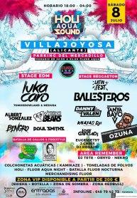 Villajoyosa celebra el holi aqua sound