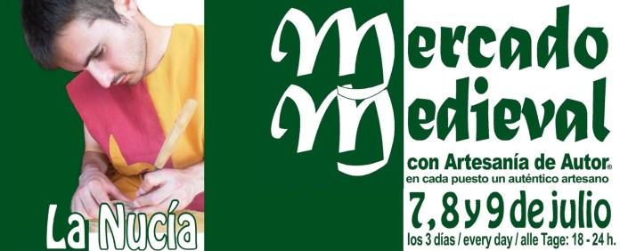 la nucia celebra su aniversario cno el tradicional mercado medieval