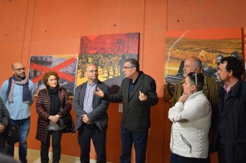Inauguración de la exposición con Ángel Beneito
