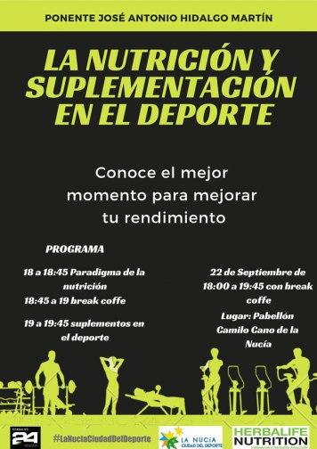 Charla sobre Nutricion y Suplementacion en el Deporte