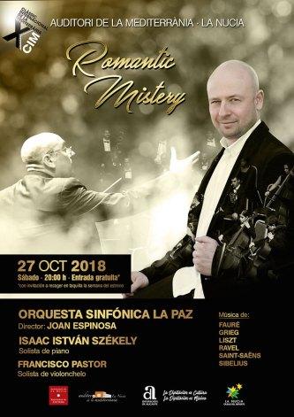 concierto orquesta sinfornica la paz romantic mistery la nucia 2018