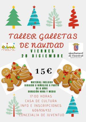 Taller infantil de elaboracion de galletas de navidad Finestrat 2018