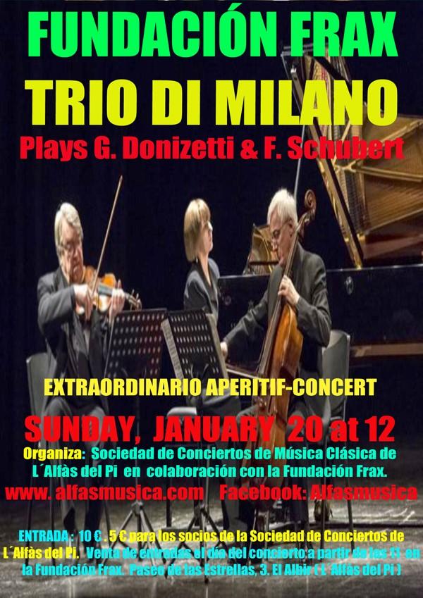 Concierto aperitivo a cargo de Trio di Milano en Fundación Frax