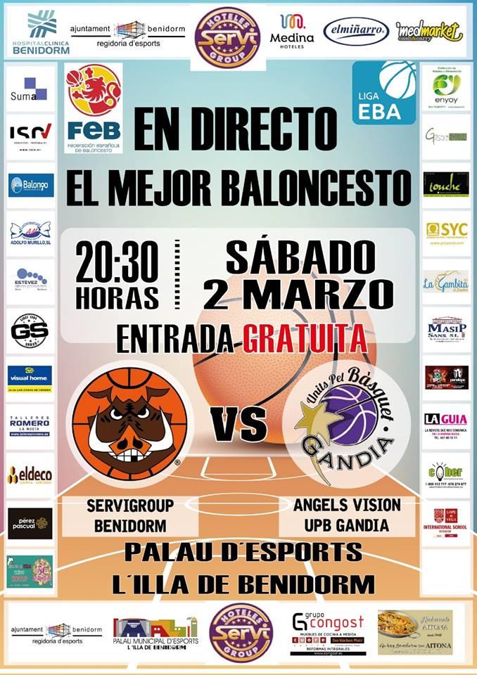 Baloncesto Servigroup Benidorm vs Angels Vision UPB Gandia 2019
