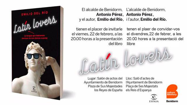 Benidorm Presentacion Libro Latin Lovers Emilio del Rio 2019