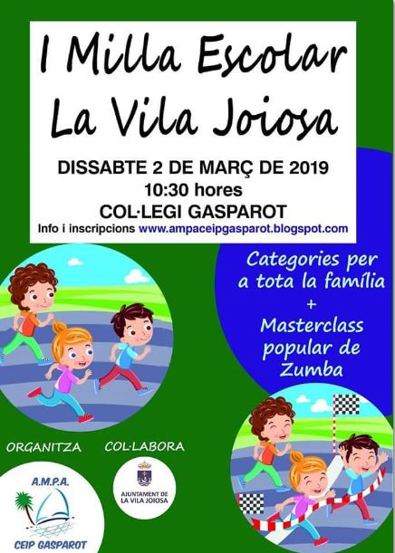 I Milla Infantil Escolar La Vila Joiosa 2019
