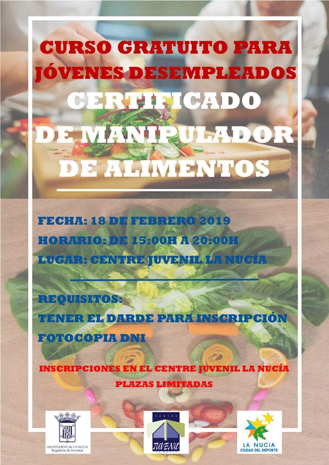 La Nucia Manipulador Alimentos 2019