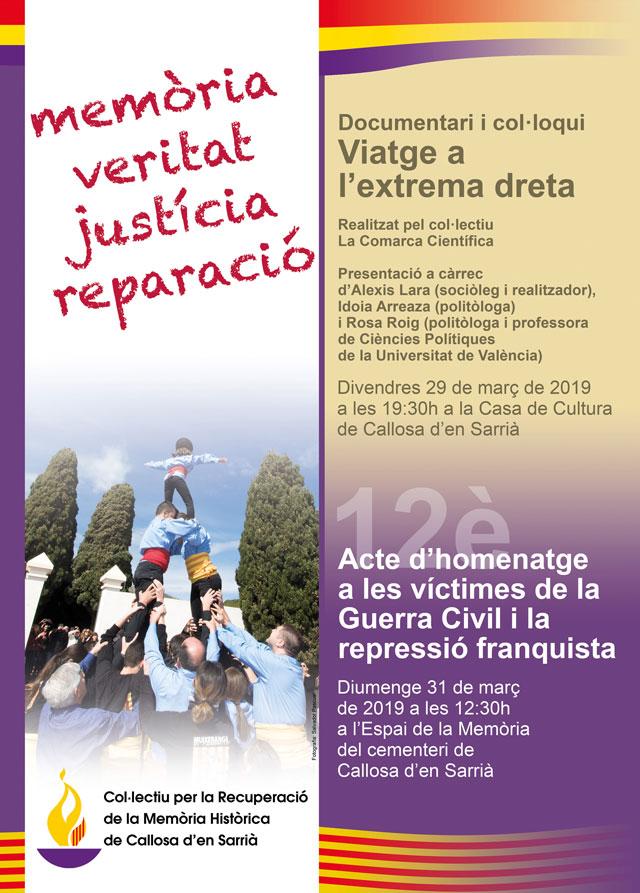 Actos recuperacion memoria historica Callosa 2019