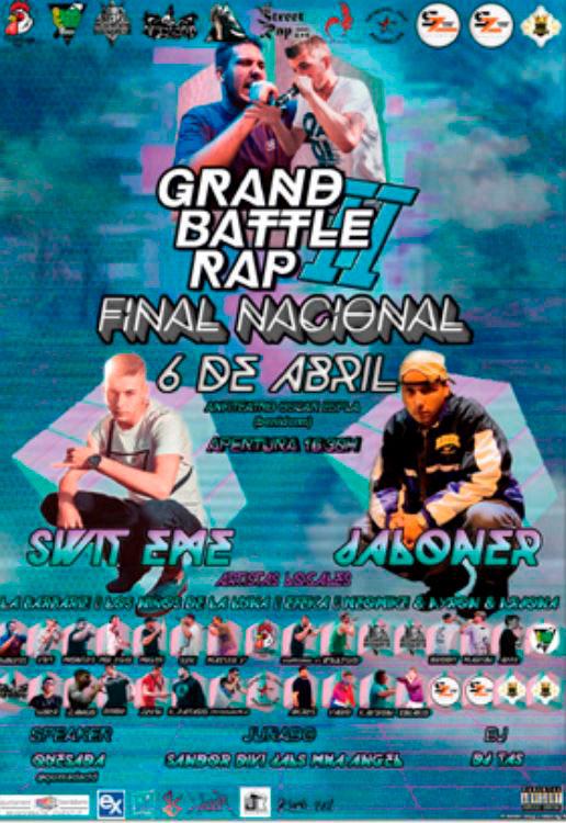 Cartel de la tercera Grand Battle Rap en Benidorm