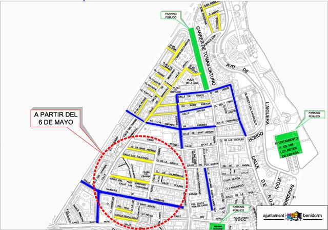 Zona Residentes Benidorm centro 2019