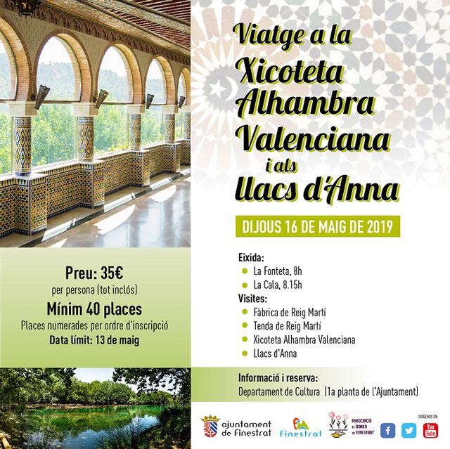 Visita Alhambra Valenciana Finestrat 2019