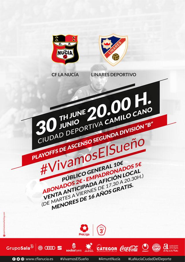 CF La Nucia vs Linares Deportivo Ascenso 2B 2019