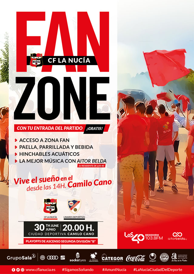 CF La Nucia vs Linares fiesta fan zone 2019