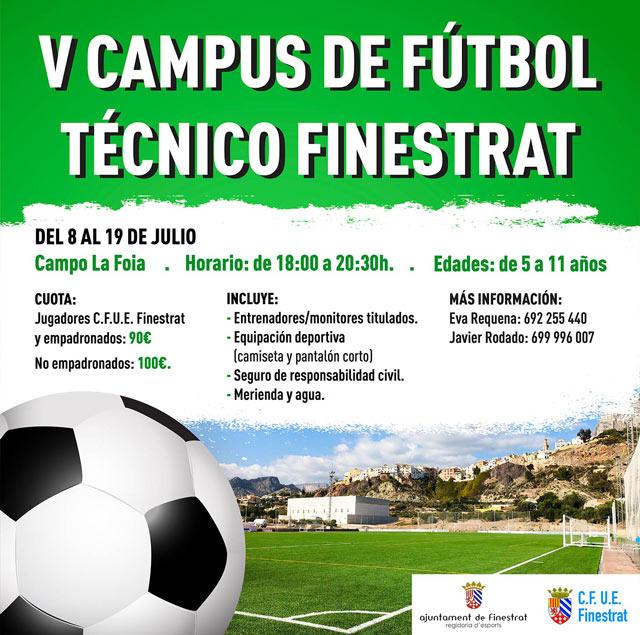 Campus futbol tecnico Finestrat 2019