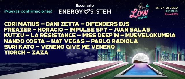 Escenario Energy Sistem Low Festival Benidorm 2019