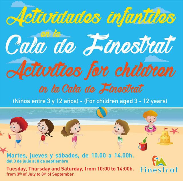 Actividades infantiles Verano Finestrat 2019