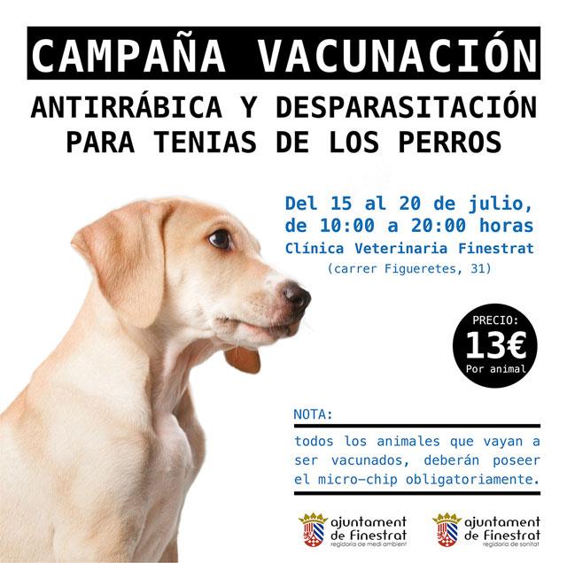Finestrat Vacunacion antirrabica perros 2019