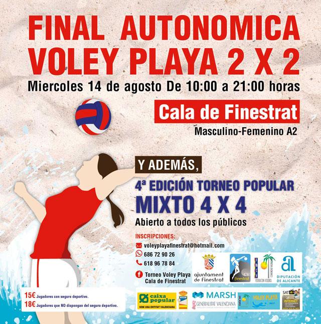 Finestrat Voley playa 2 x 2 final autonomica 2019