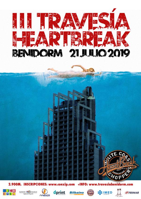III travesia nado heartbreak benidorm 2019