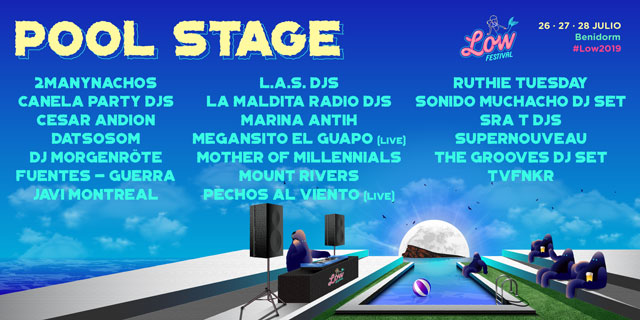 Low Festival programacion vip Pool 2019