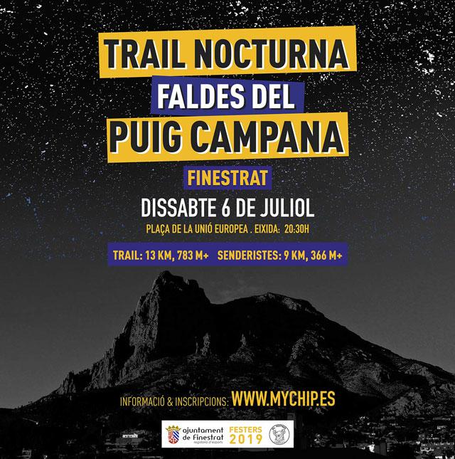 Trail Nocturna Puig Campana Finestrat 2019