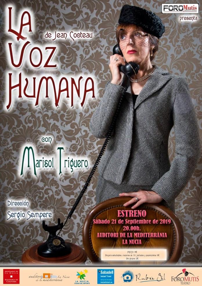 """Estreno de """"La voz humana"""" este sábado en l'Auditori"""