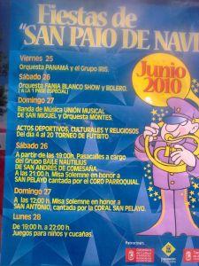 cartel fiestas San Pelayo de Navia 2010