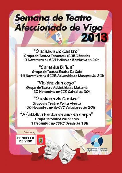Semana de Teatro Afeccionado 2013 en Vigo
