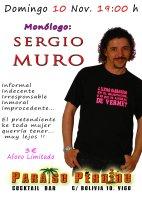 Monólogo de Sergio Muro en Paraíso Perdido