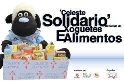Celeste Solidario, Recogida de juguetes y alimentos