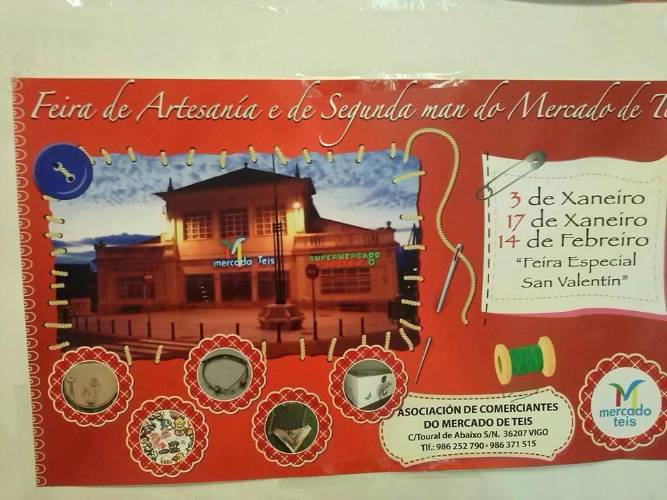 Feria de Artesanía del Mercado de Teis