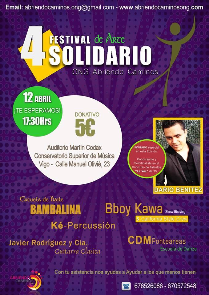 Darío Benítez en el Festival de arte solidario de Vigo