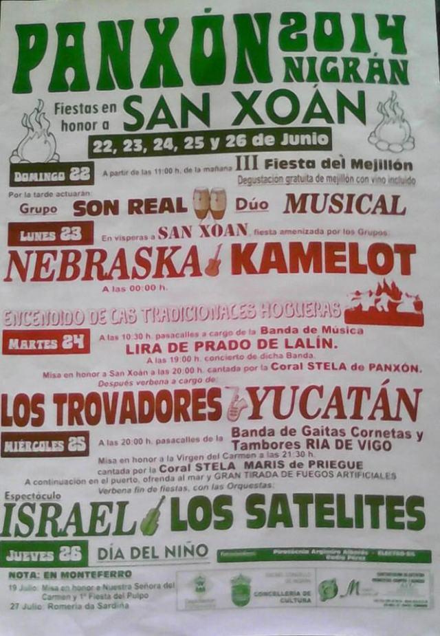 Fiesta en honor a San Juan en Panxón