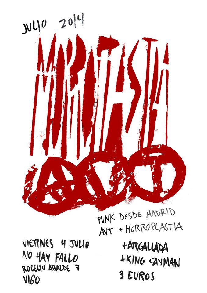 Concierto 4 Julio Morroplastia + Avt + Argallada + King Cayman