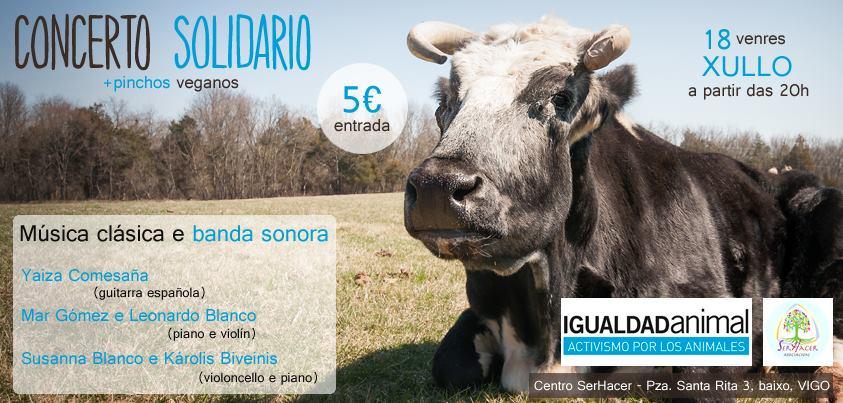 Concierto Solidario para Igualdad Animal en Galicia