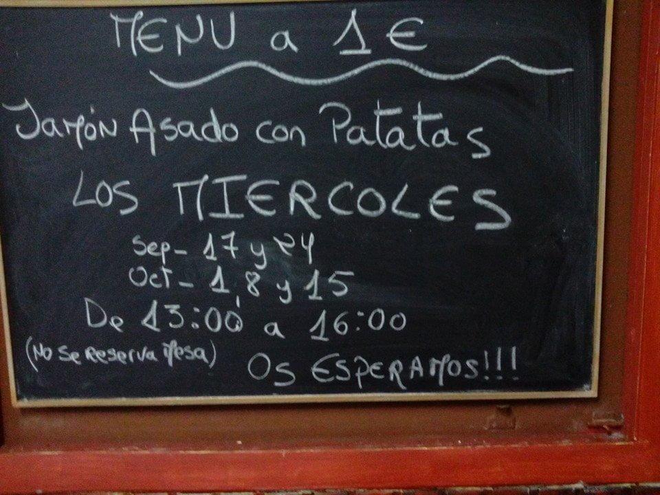 Jamón asado + patatas a 1€ en O Pontillón