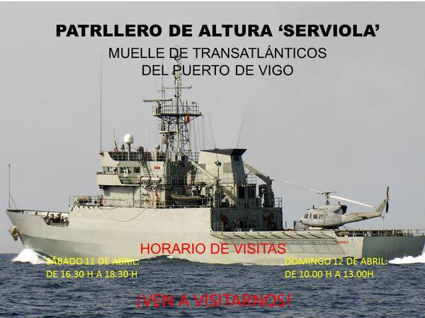 """Visita el buque de la Armada """"Serviola"""""""