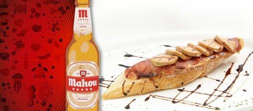 The Concept. Tosta caliente de micuit de pato con jamón. (c/ Bolivia 15)