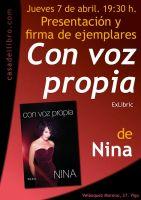 """Presentación del libro """"Con Voz Propía"""" de Nina en Vigo"""