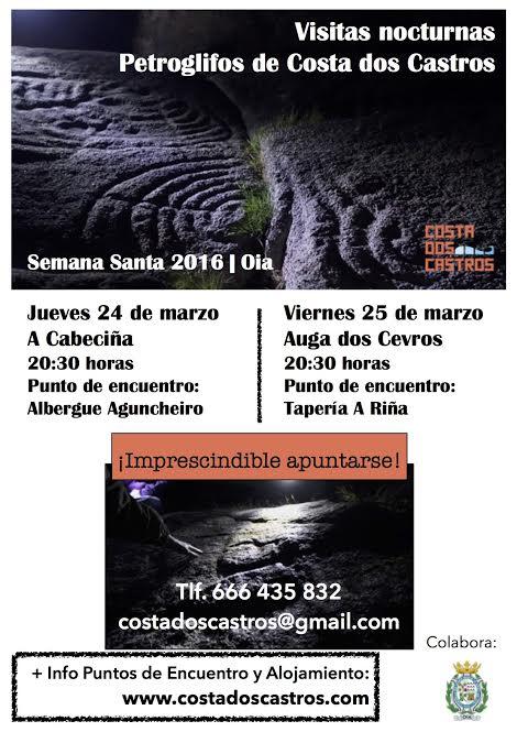 Visitas nocturnas a los petroglifos de Costa dos Castros