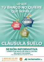 Sesión informativa Cláusulas Suelo