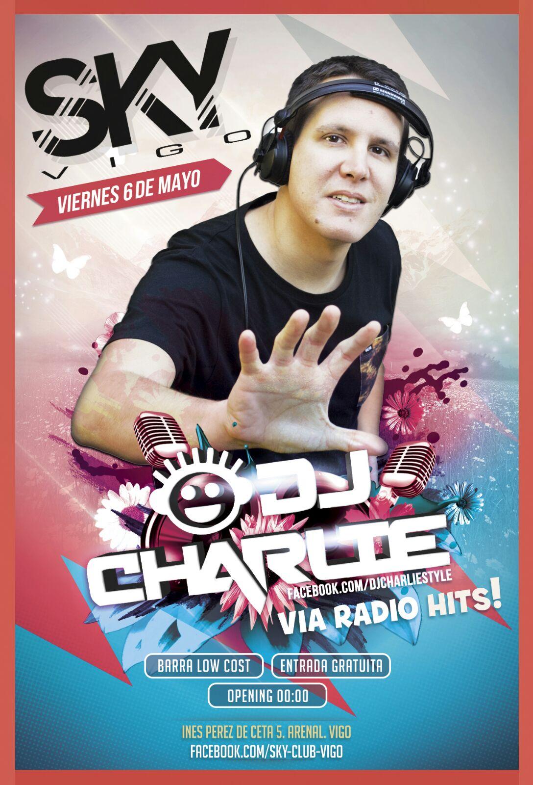 DJ Charlie con todos sus éxitos de Vía Radio