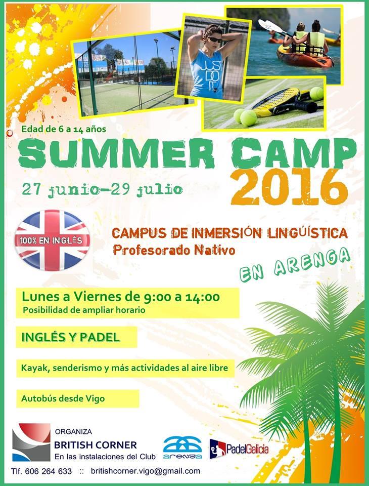 Campus de verano Inglés y padel