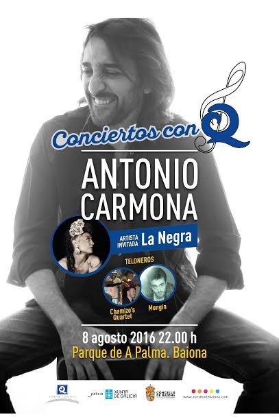 Antonio Carmona en Baiona