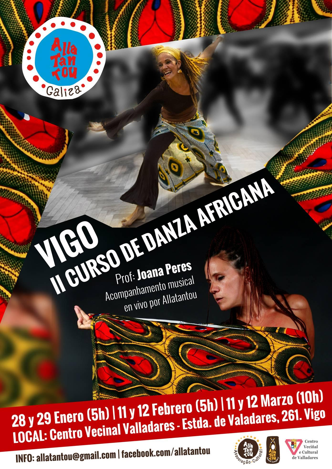Curso de danza africana con música en vivo