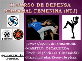 II CURSO DE DEFENSA PERSONAL FEMENINA