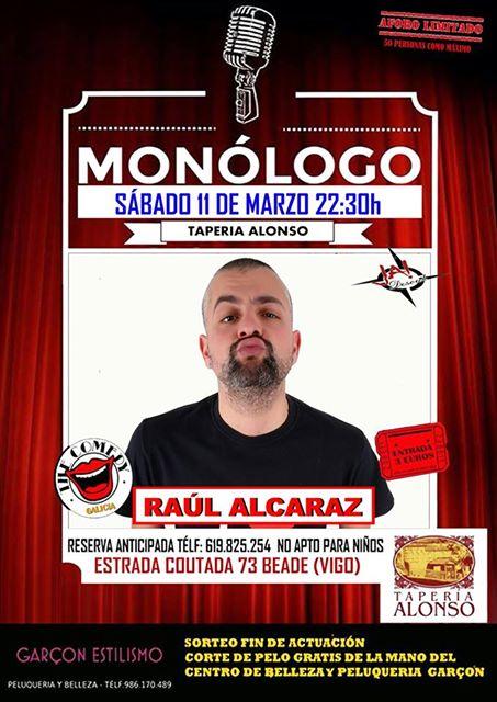 Cena Monólogo con Raúl Alcaraz