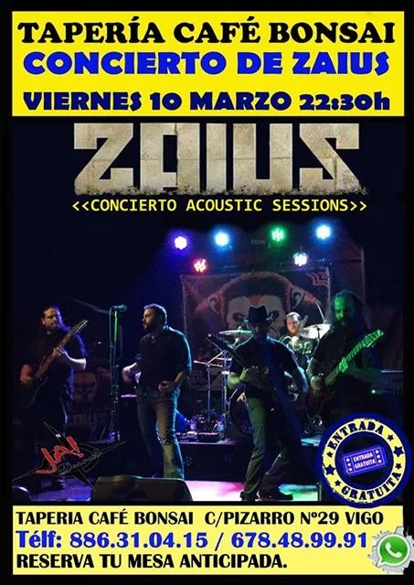 Concierto de Zaius Acoustic Sessions