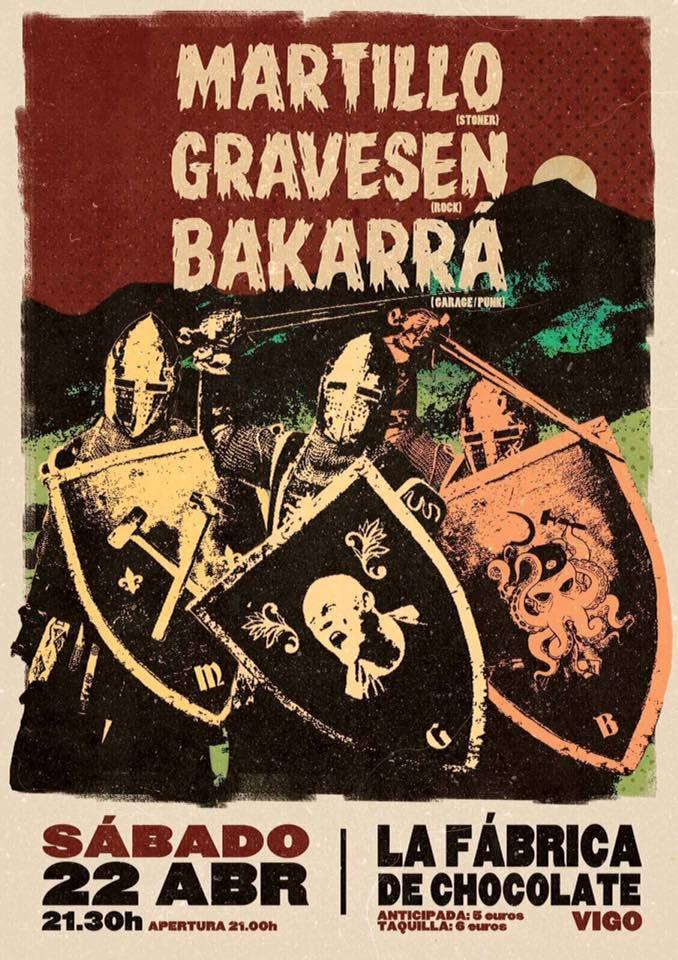 Concierto Martillo+ Gravesen+ Bakarrá