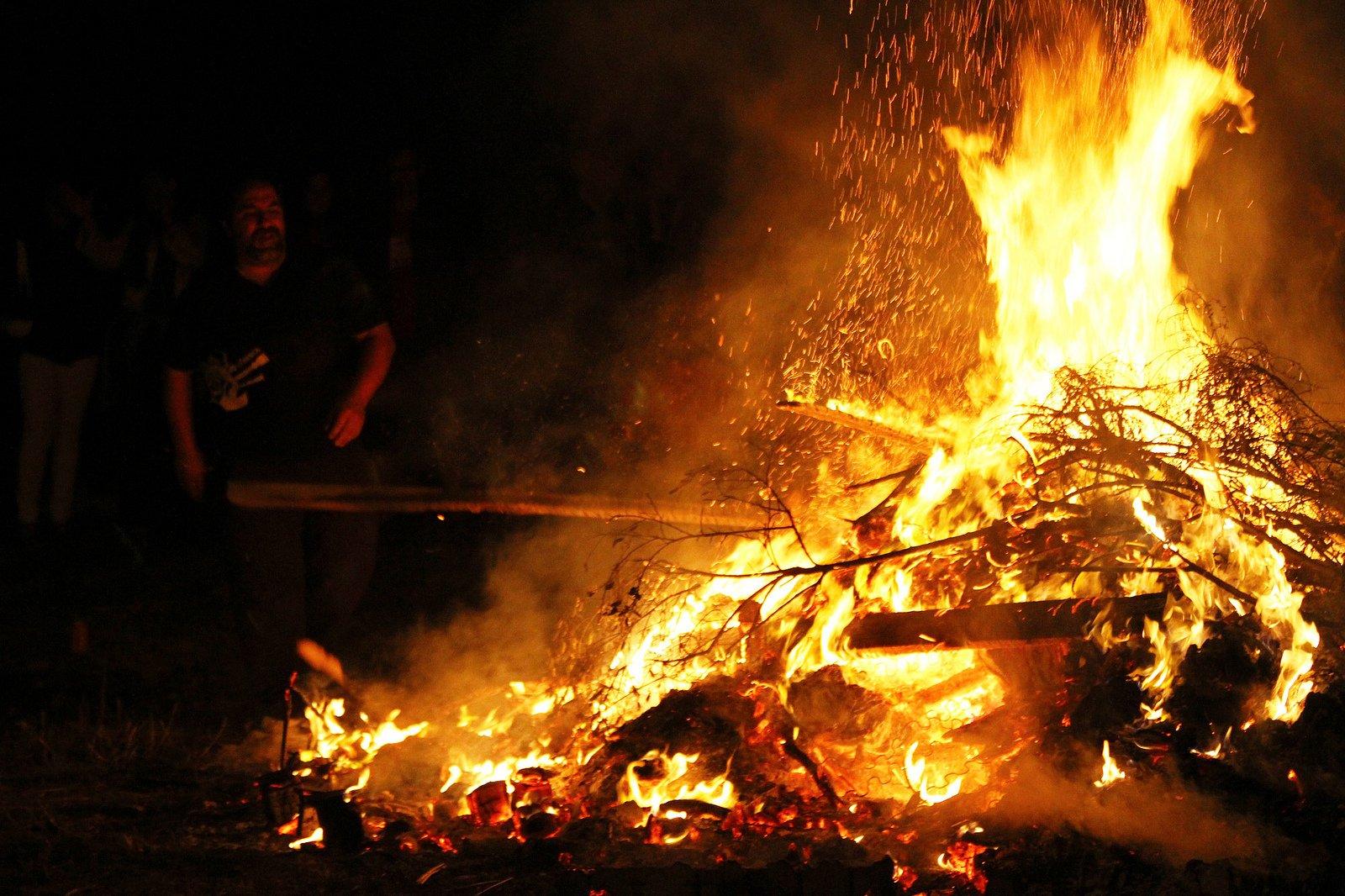 Fiesta en honor a San Xoán en Panxón